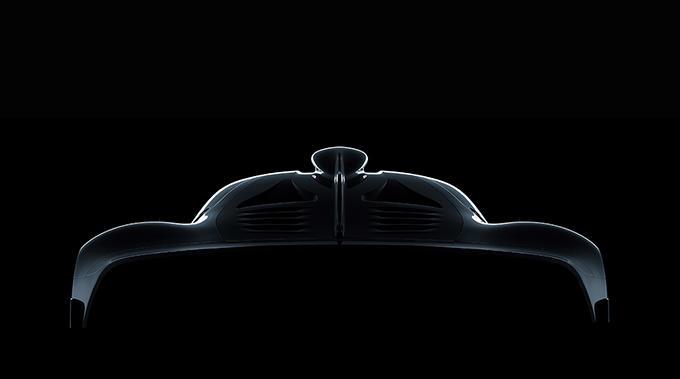 Mercedes-AMG Hypercar Skizze. ; Mercedes-AMG Hypercar design sketch.;