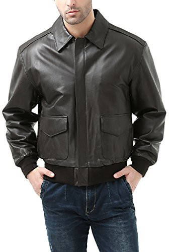Landing-Leathers-Mens-Air-Force-A-2-Leather-Flight-Bomber-Jacket-Brown-L-0-1