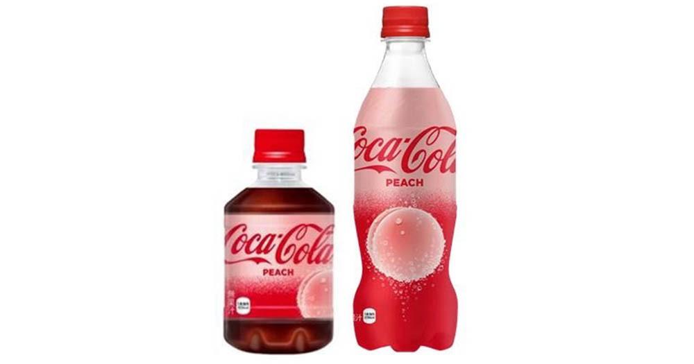 史無前例,日本推出桃味可口可樂